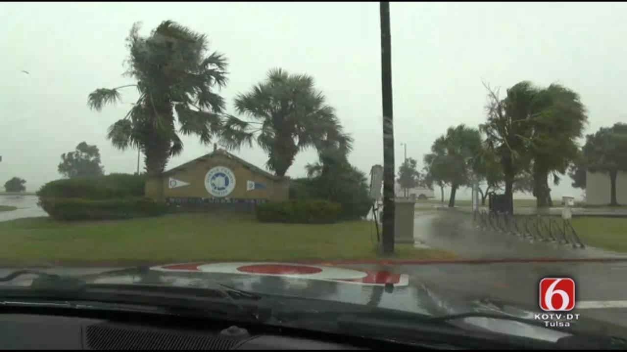 WEB EXTRA: Storm Tracker Tom Pastrano In Corpus Christi Before Landfall