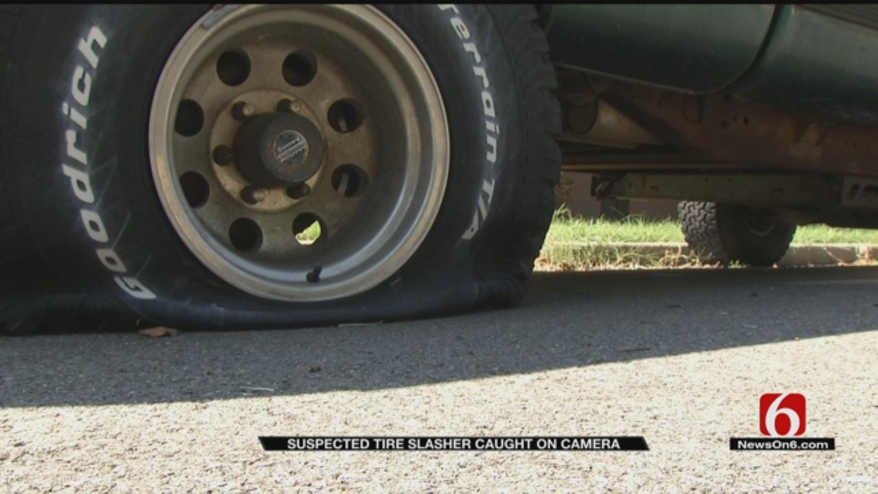 Tulsa Tire Slasher Caught On Camera