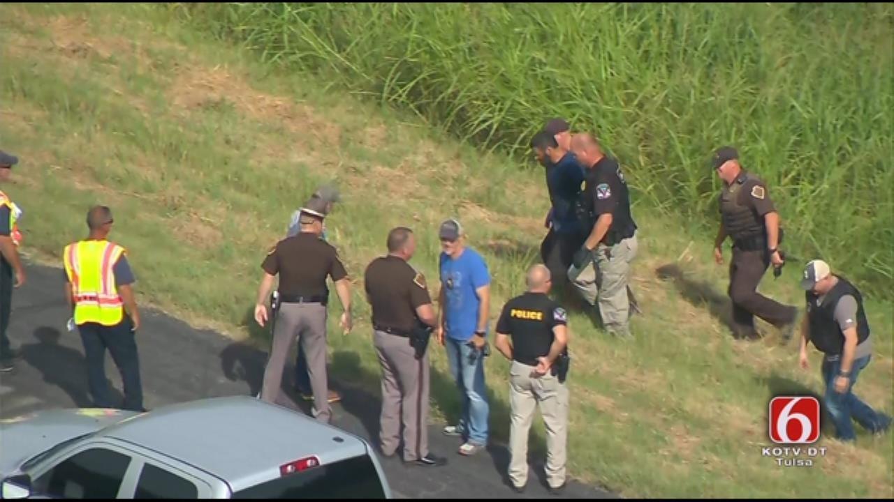 Osage SkyNews 6 HD Video Of Suspect Arrest Near Claremore