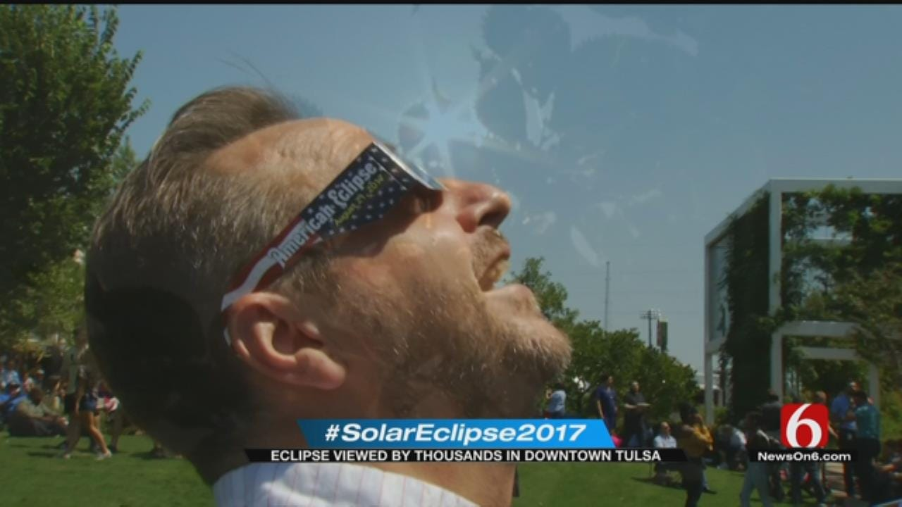 Hundreds Gather At Guthrie Green To Watch Solar Eclipse