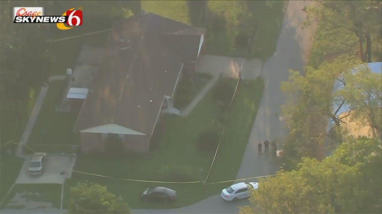 Osage SkyNews 6 HD Flies Over Oologah Homicide