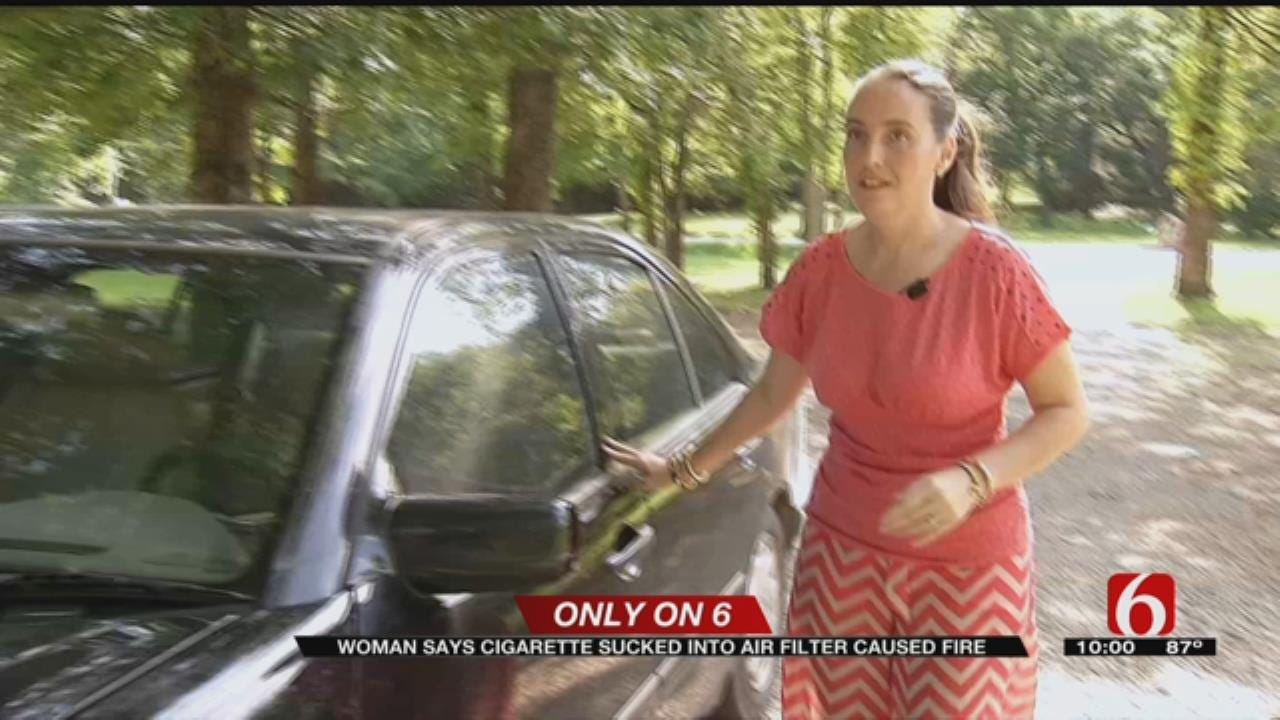 Car Caught On Fire By Lit Cigarette, Green Country Couple Says
