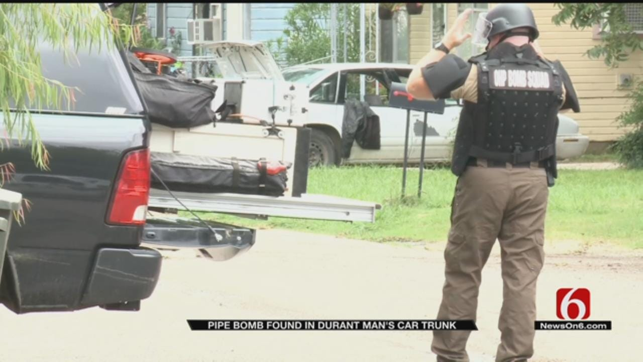 Pipe Bomb Found in Durant Man's Car