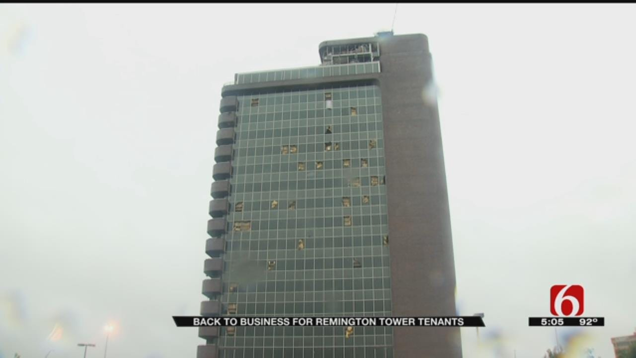 Woman Helps Tornado-Ravaged Remington Tower Businesses Get Back To Work