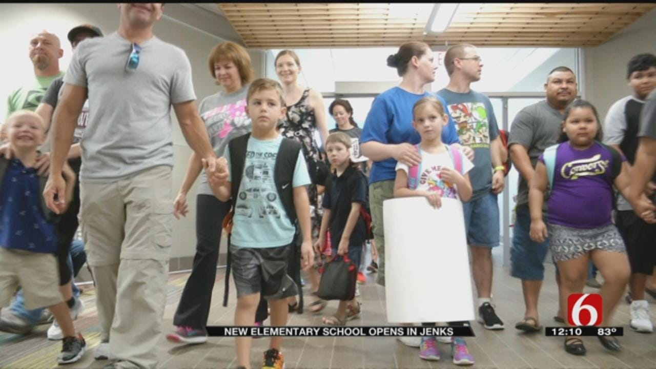 Some Jenks Students Head Back To School In New Facility