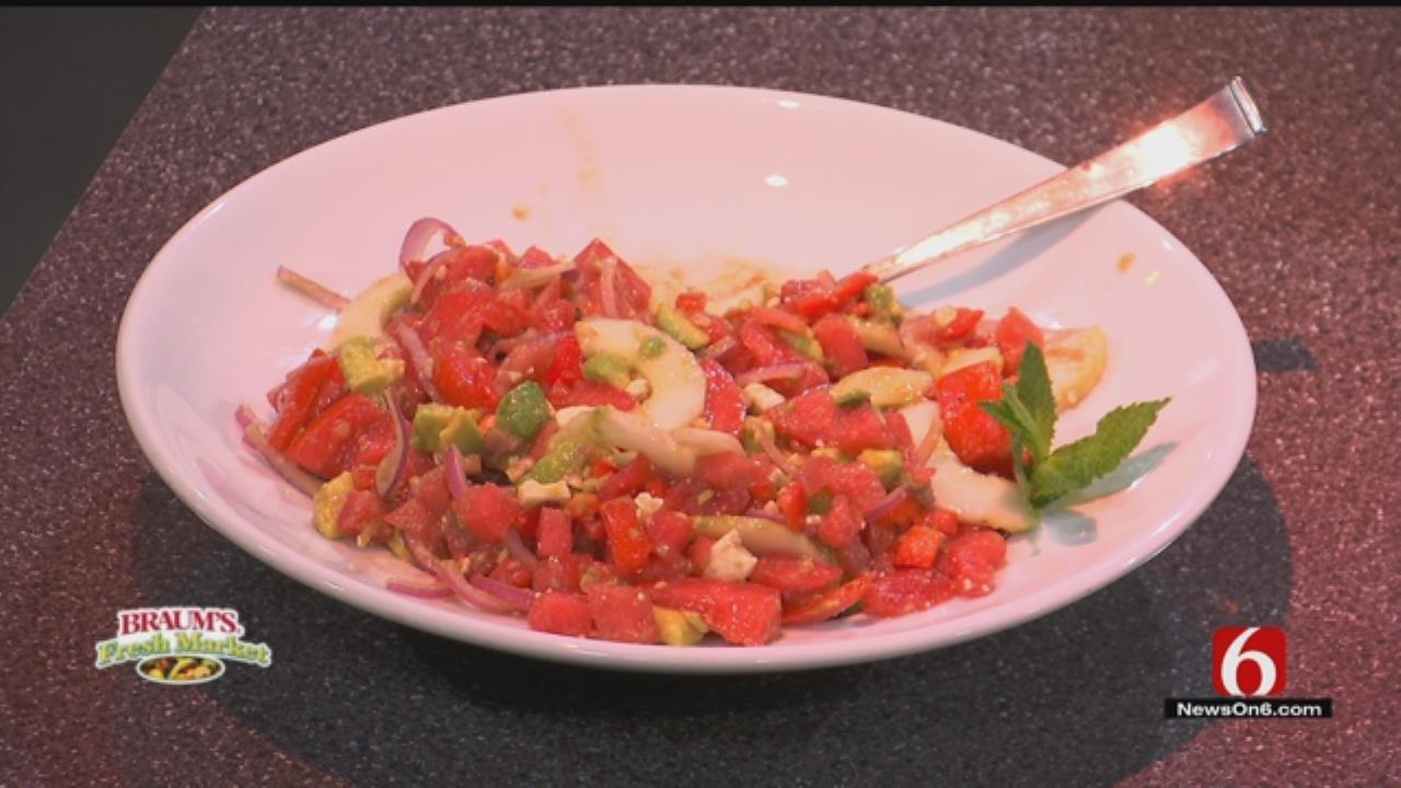 Watermelon, Feta And Tomato Salad