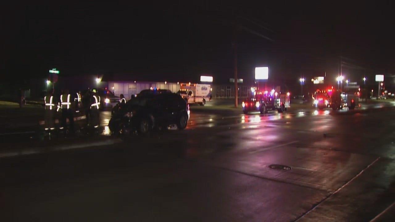 WEB EXTRA: Video From Scene Of Tulsa Memorial Drive Crash