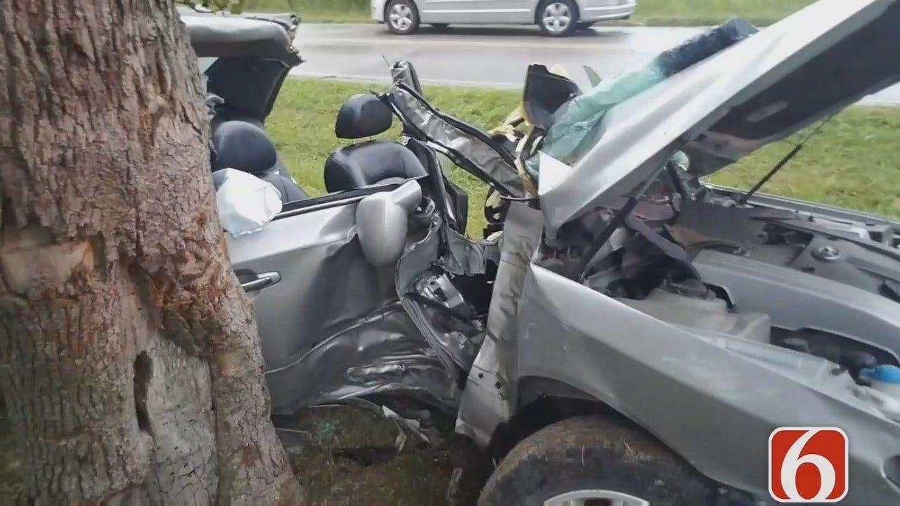 Dave Davis Says Wet Road Blamed For Sand Springs Car Crash