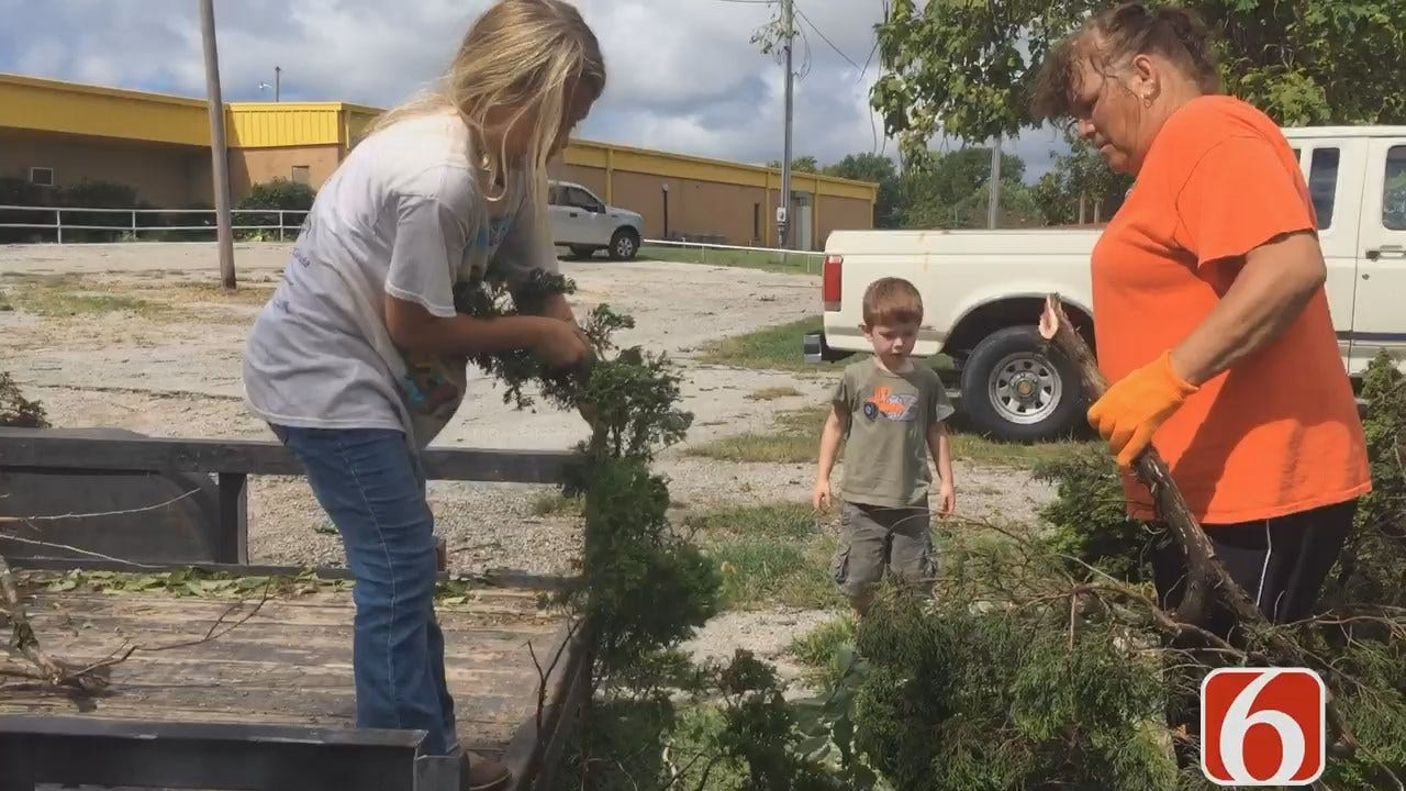 Amy Slanchik: Copan Teachers, Students Use Day Off For Storm Clean-Up