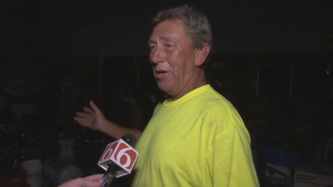 WEB EXTRA: Copan Resident Keith Addison Talks About Storms Hitting His Home