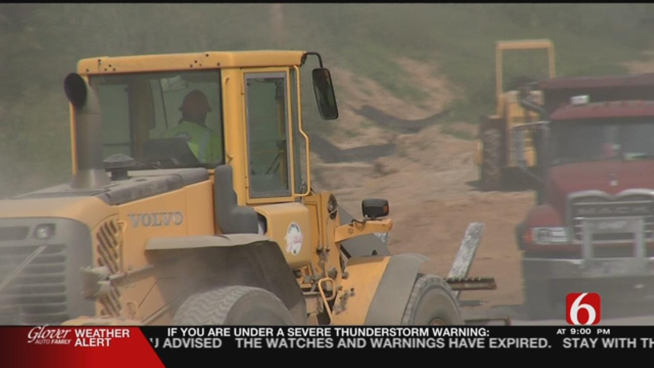Old Sewer Line Affects Jenks Middle School Construction, Traffic