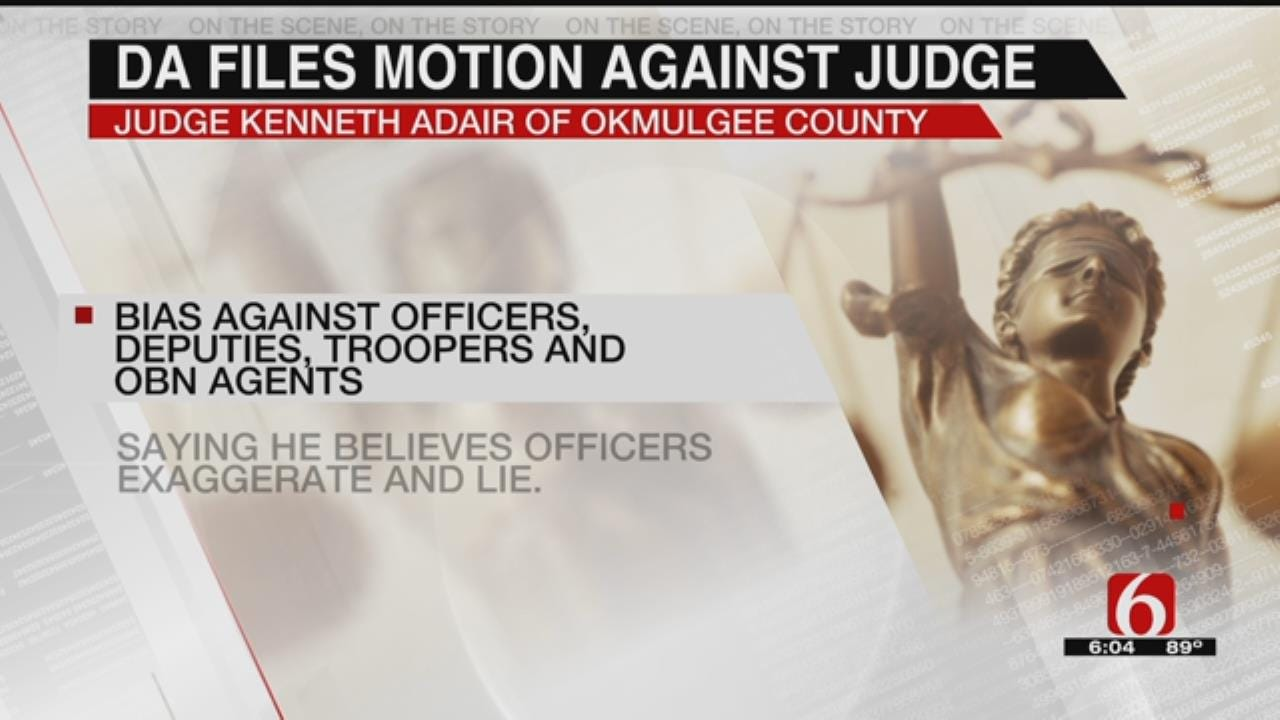 Okmulgee County DA Wants Judge Disqualified From Criminal Cases