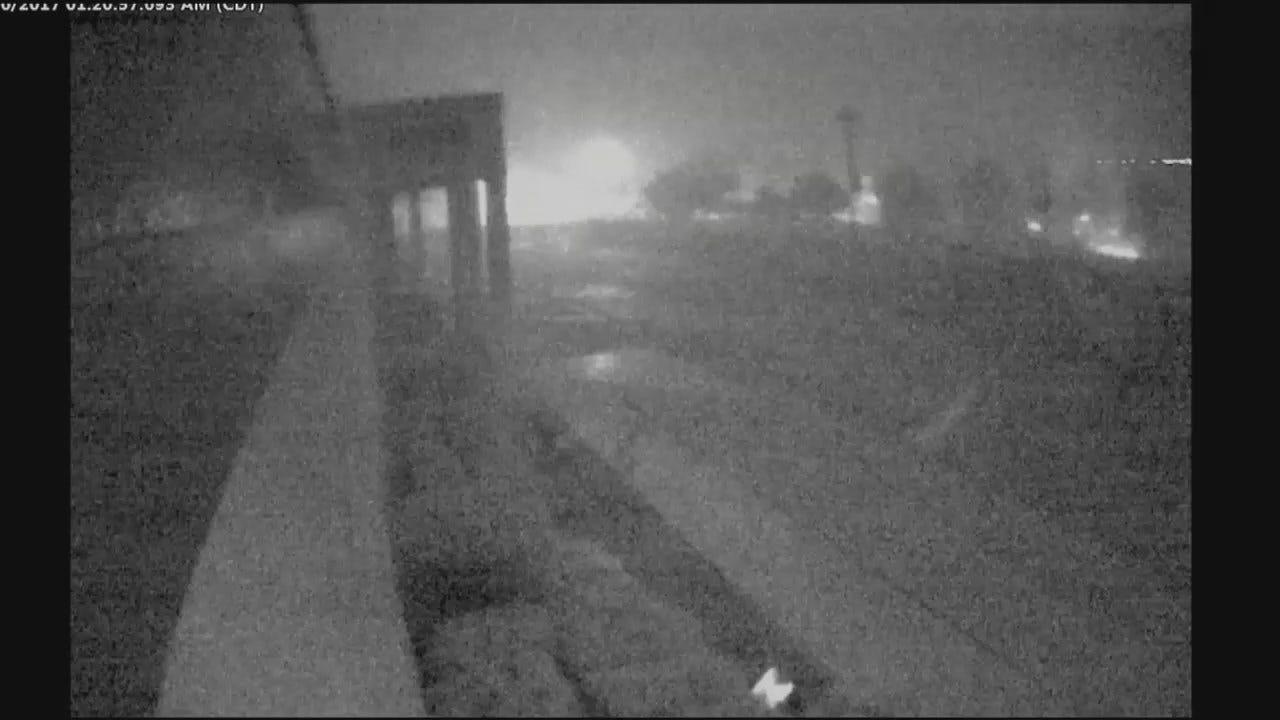 WEB EXTRA: Bishop Kelley Surveillance Video Captures Transformer Explosions