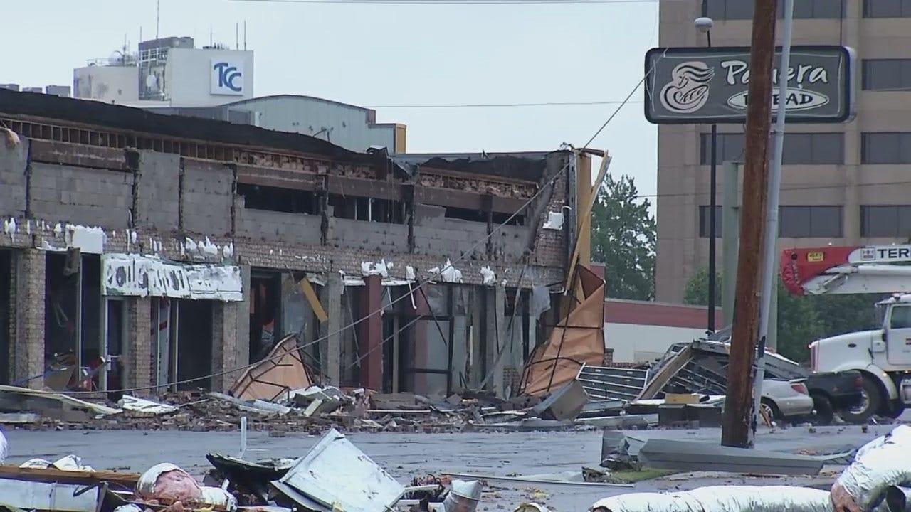 WEB EXTRA: Tornado Damage To Panera On 41st Street