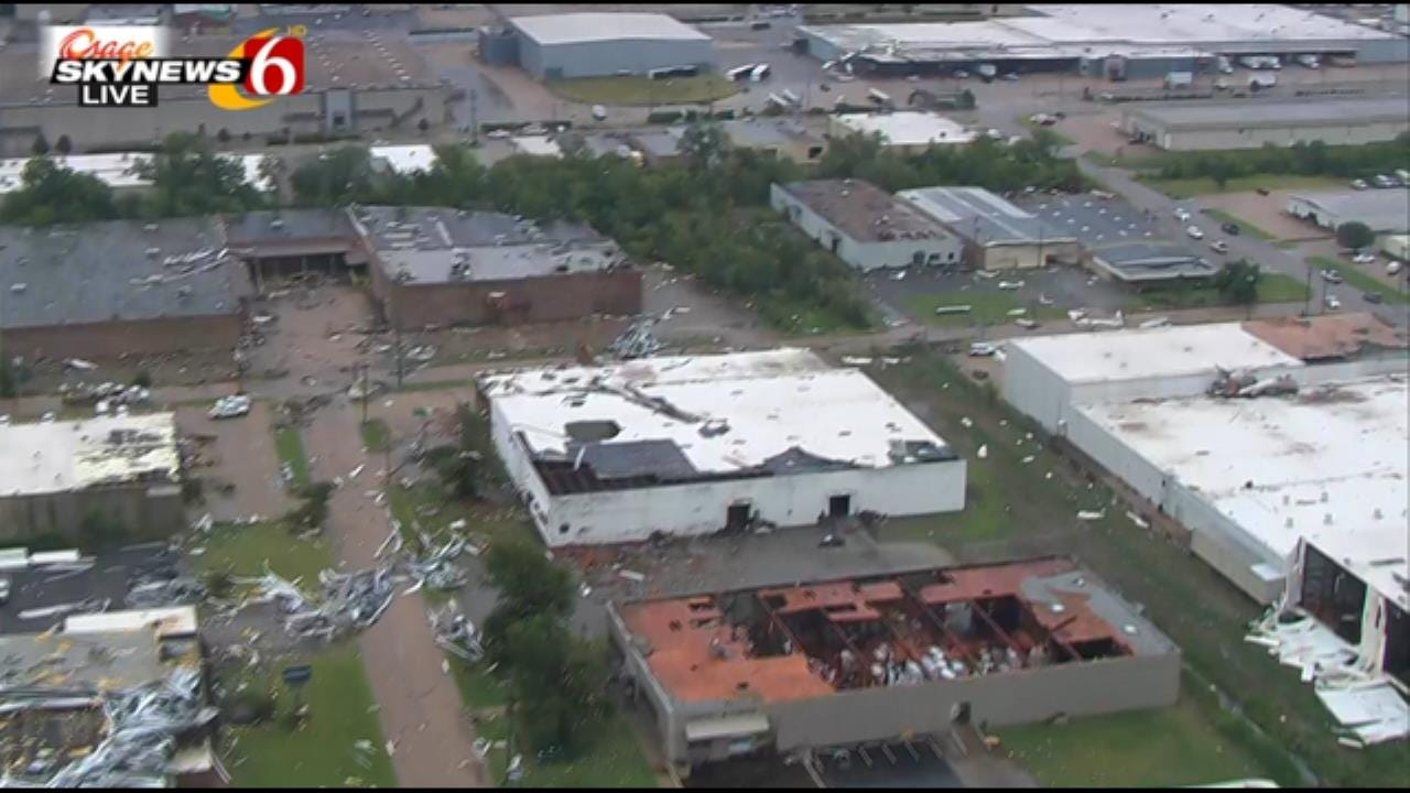 Osage SkyNews 6 HD Flies Over Aftermath Of Sunday Morning Storms