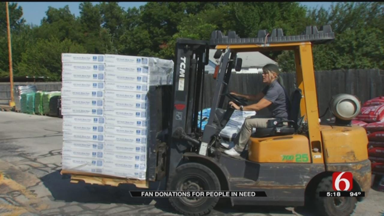 Tulsa Westlake Ace Hardware Donates Fans To People In Need Amid Heat Wave