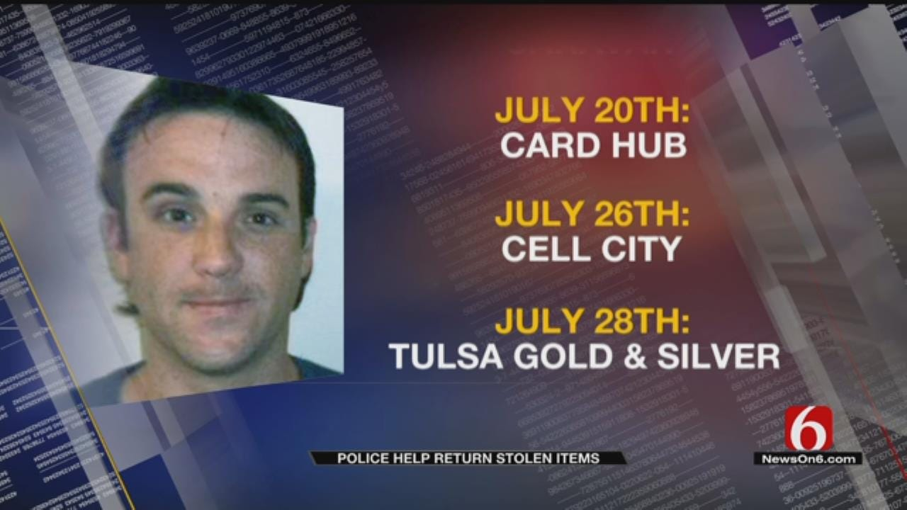 Stolen Items Recovered After Arrest Of Tulsa 'Rooftop Burglar'