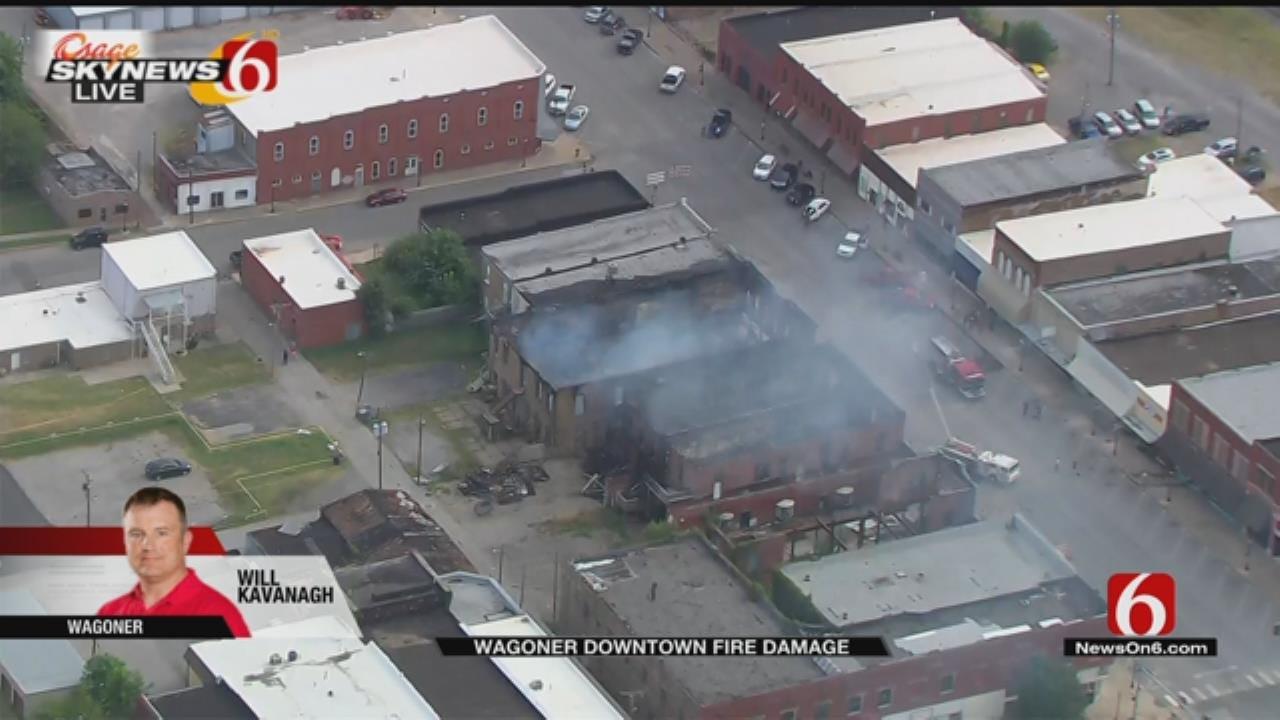 Osage SkyNews 6 HD: Downtown Wagoner Fire Damage