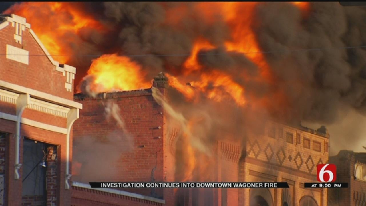 Wagoner Police Continue Investigation In Downtown Wagoner Fire