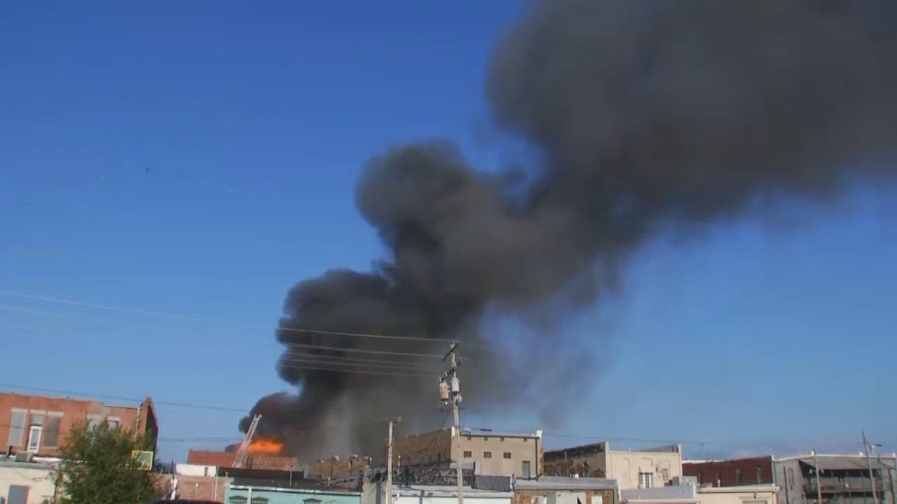 WEB EXTRA: Video From Scene Of Sunday's Downtown Wagoner Fire