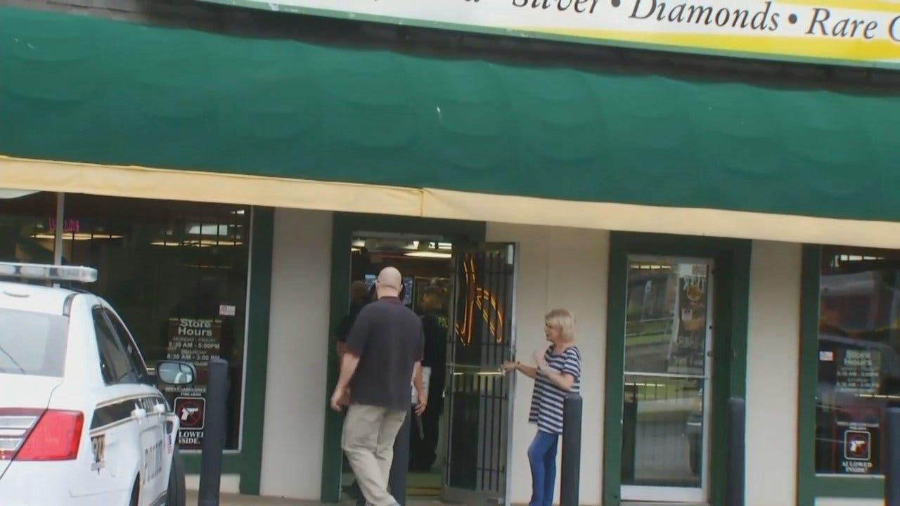 WEB EXTRA: Video From Scene Of Tulsa Business Burglary, Arrest