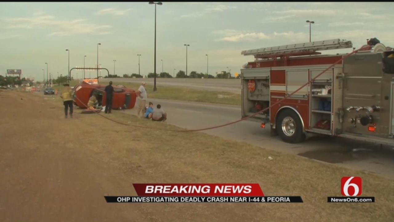 One Dead After Rollover Crash On Interstate 44 Just Before Arkansas River