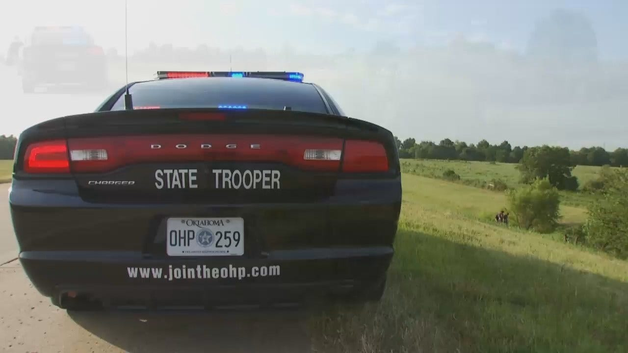 WEB EXTRA: Video From Scene Of Fatal Wagoner County Motorcycle Crash