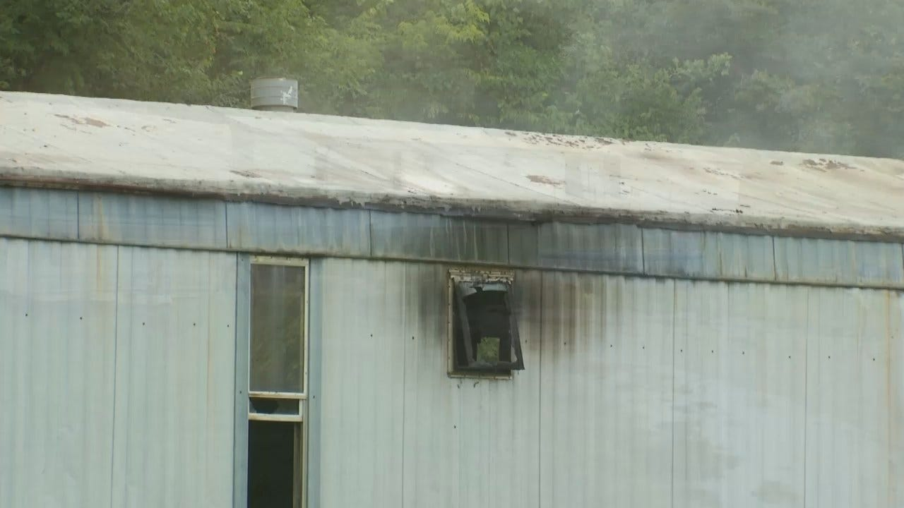 WEB EXTRA: Video From Scene Of Tulsa County Mobile Home Fire