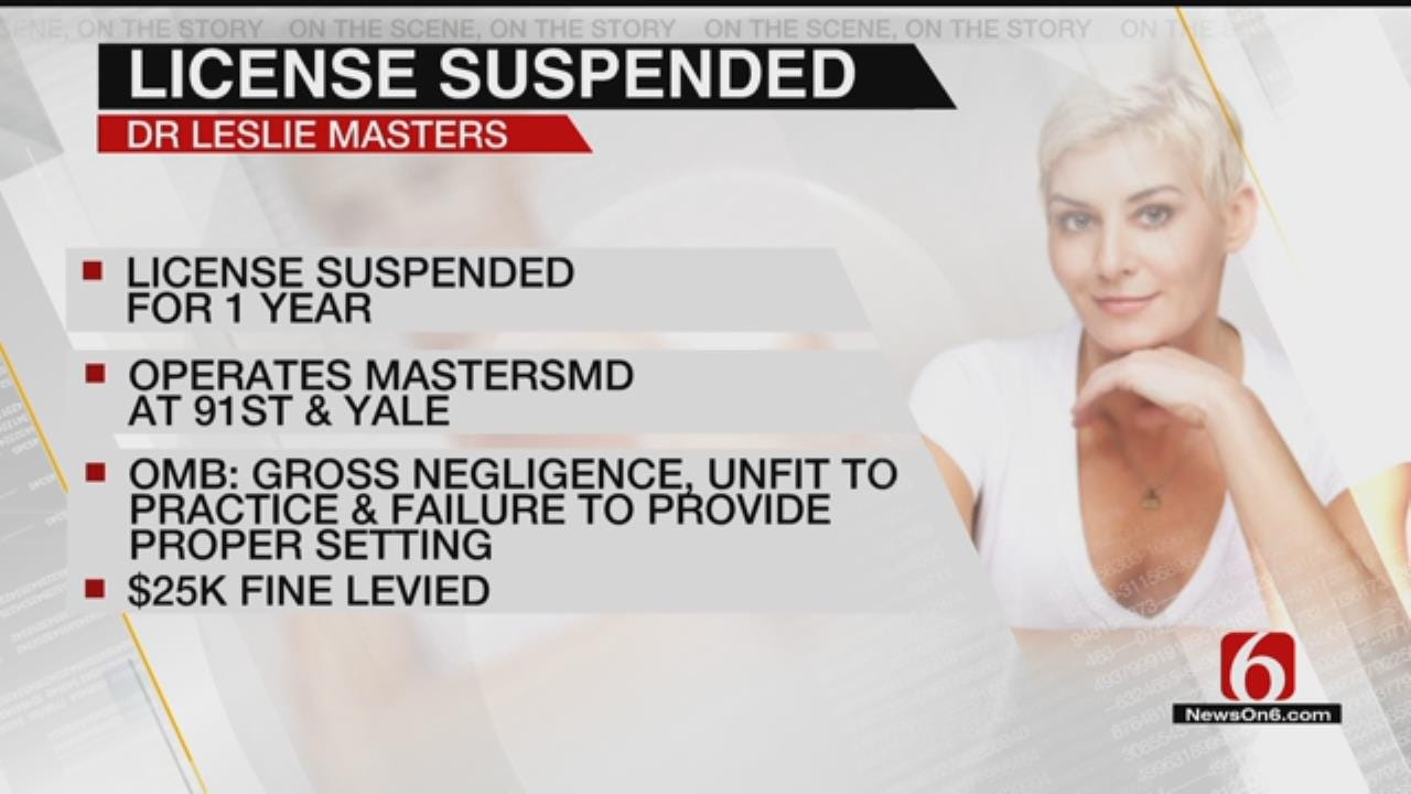 Tulsa Doctor Has Medical License Suspended For Gross Negligence
