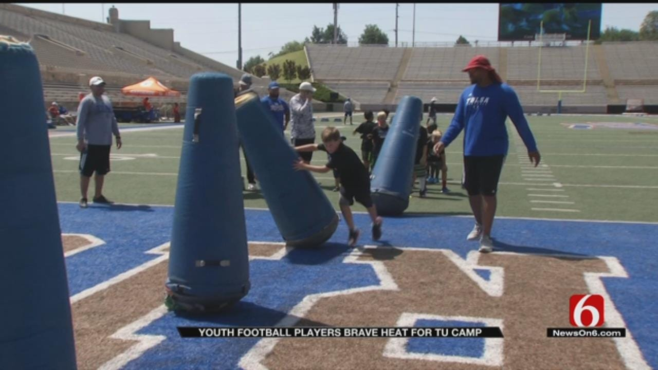 Tulsa University's Football Camp Teaches Importance of Hydration During Summer Heat