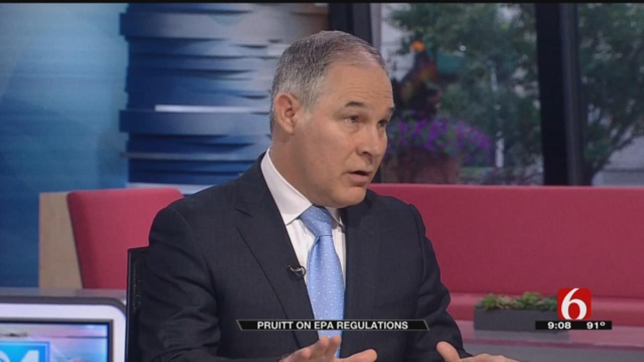 Scott Pruitt Fires Back When Speaking On Environmental Regulations