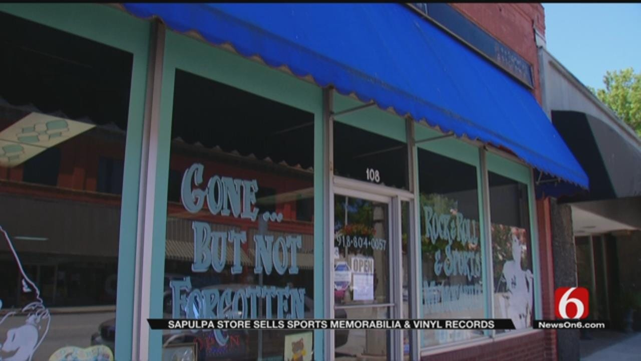 Sapulpa Shop Showcases Fascinating Sports, Vinyl Memorabilia