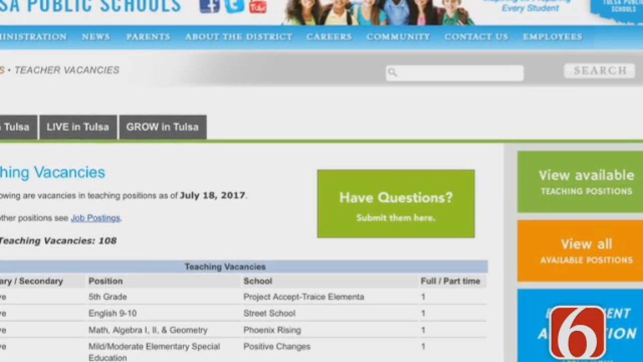 Dave Davis Reports Tulsa Public Schools Holding A Career Fair Today