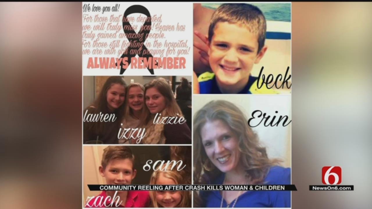 Jenks Community Devastated After Crash Kills Woman, Children