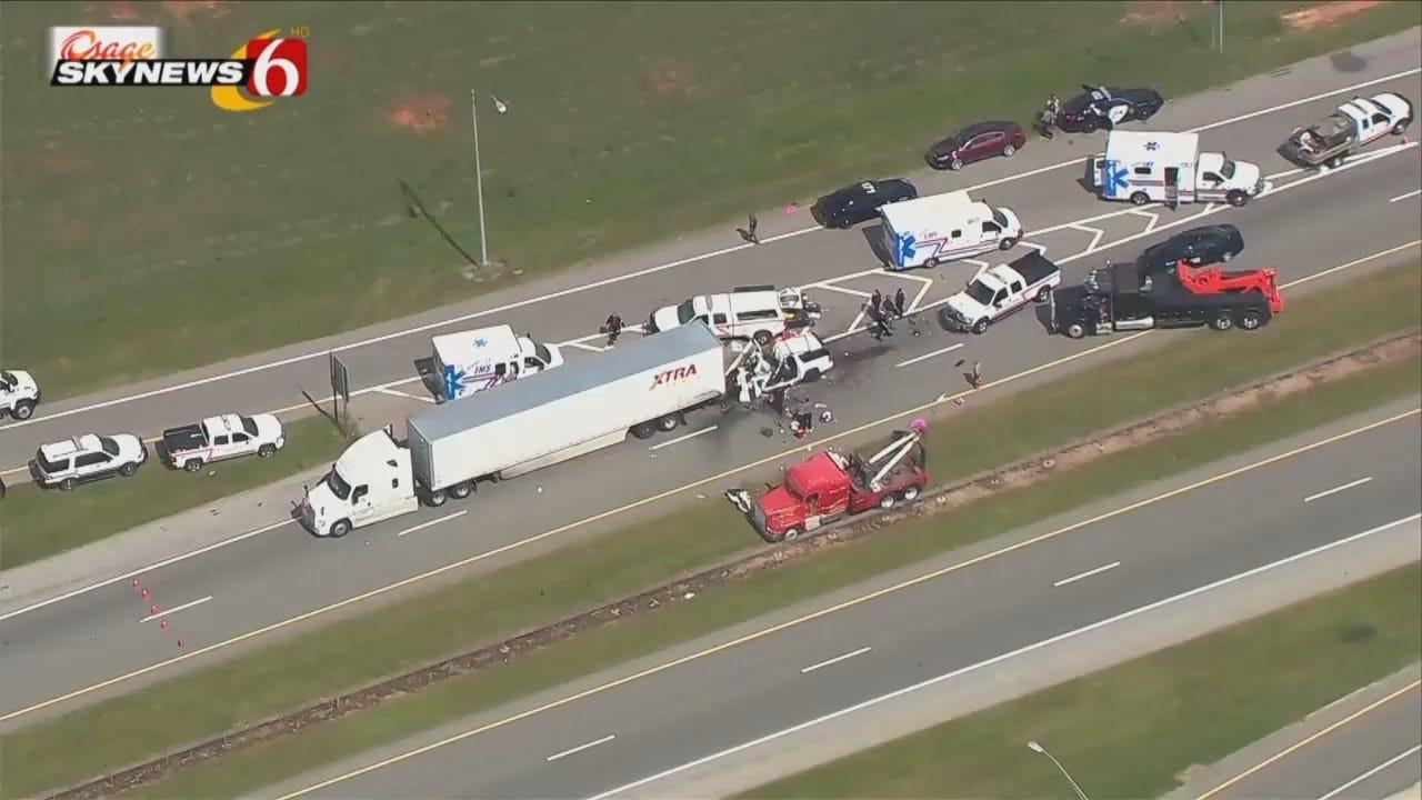 Osage SkyNews 6 HD Flys Over Fatal McLain County Crash