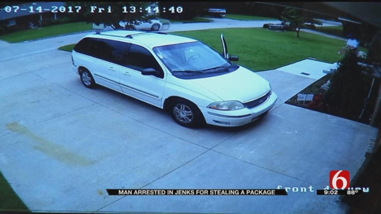 Technology Leads To Arrest Of Jenks Man Accused Of Stealing Package