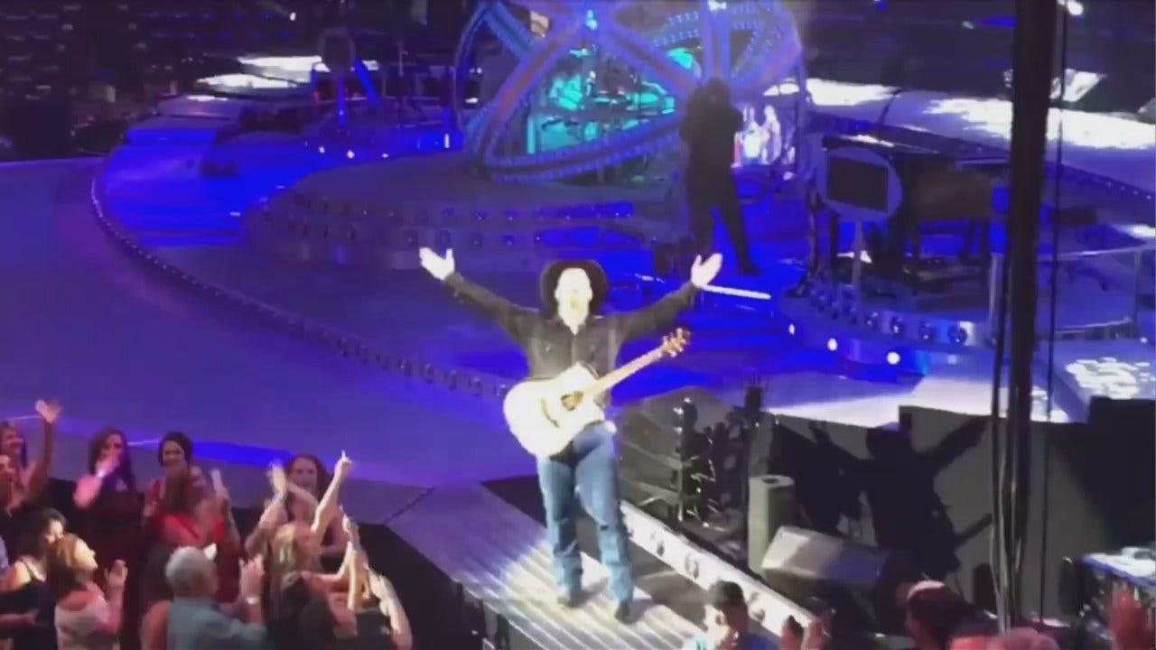 WEB EXTRA: Video From Garth Brooks Concert In OKC Saturday Night