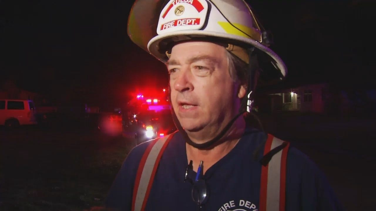 WEB EXTRA: Tulsa Fire District Chief Jim Long Talks About House Fire