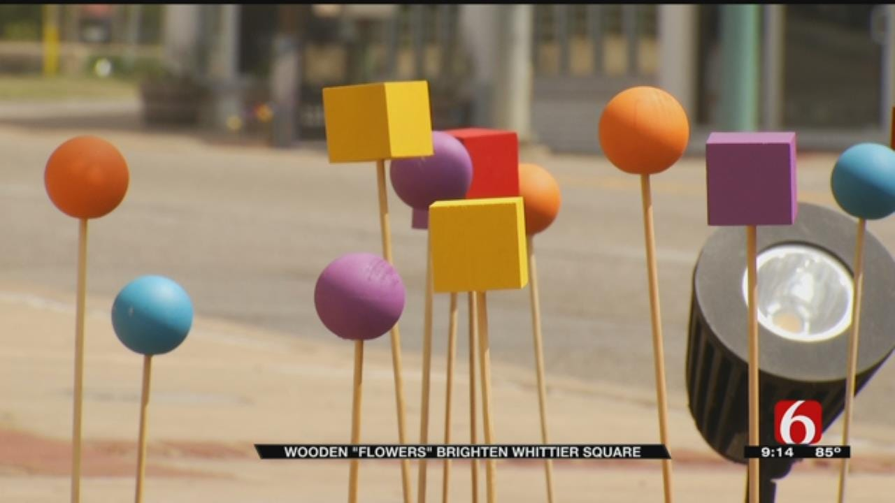 Abstract Art 'Flowers' Planted At Tulsa's Whittier Square