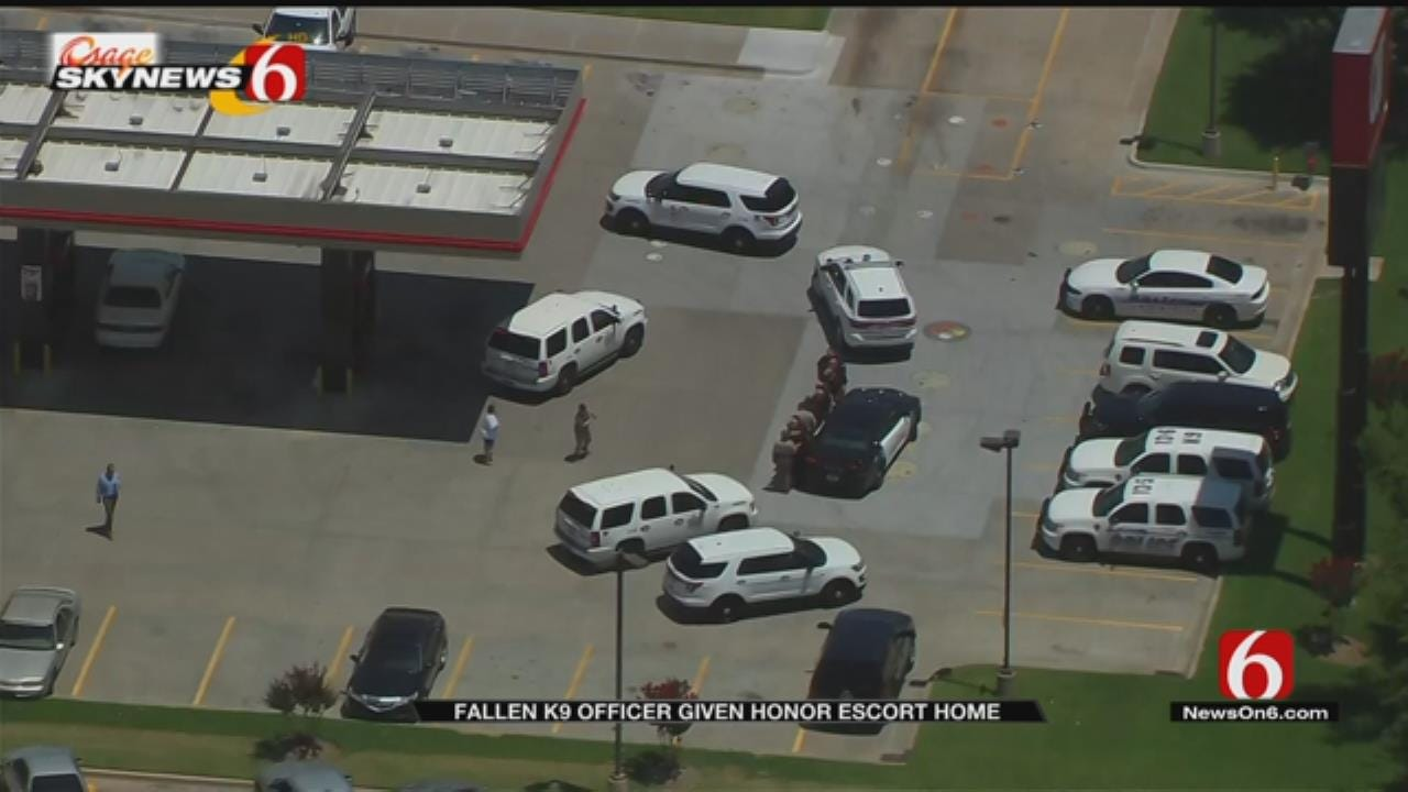 K9 Officer Who Died At OSU Vet Hospital Escorted Back To Coffeyville