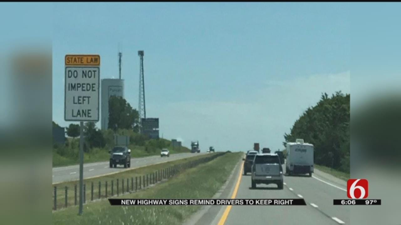New Highway Signs Remind Drivers Left Lane Is For Passing
