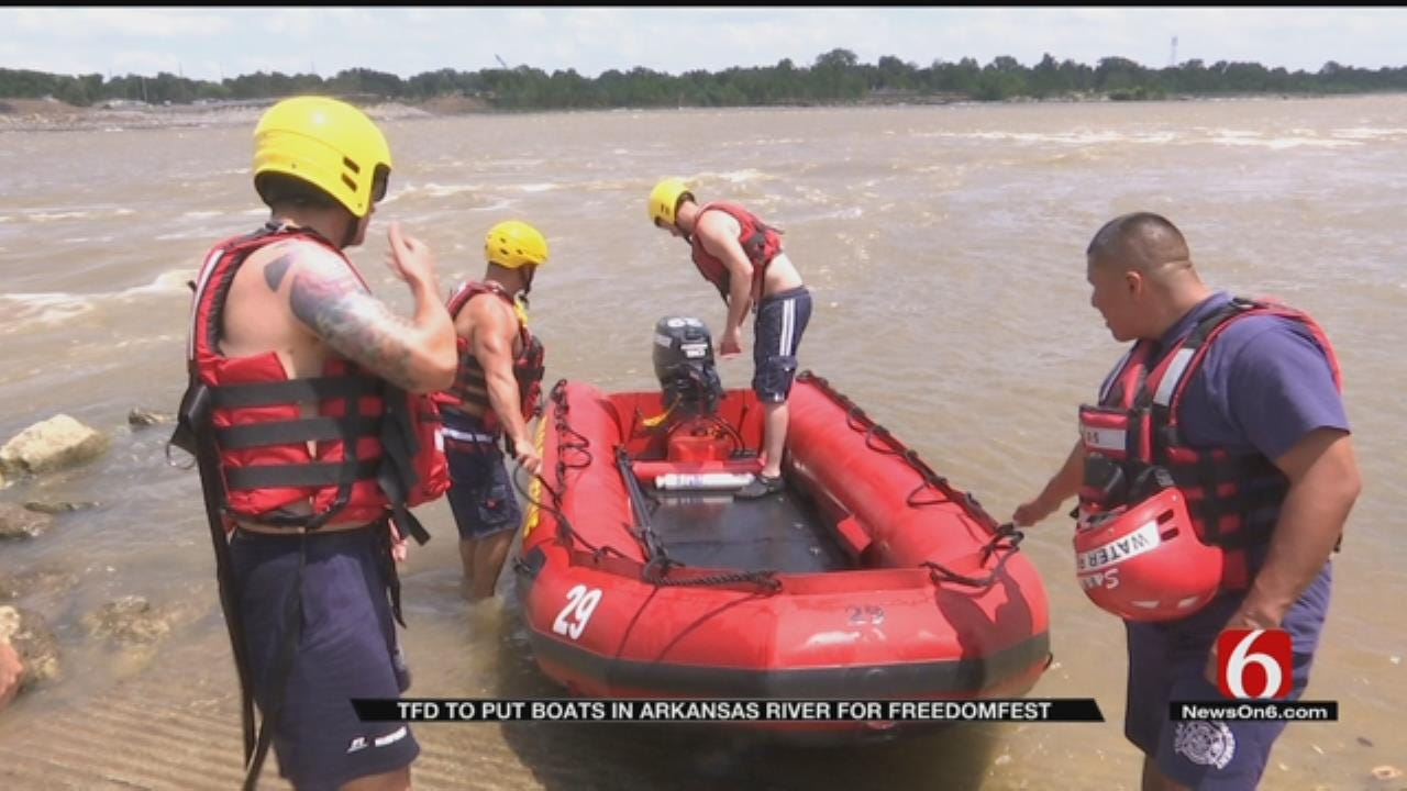 TFD Staging Rescue Boats In Arkansas River For Freedom Fest