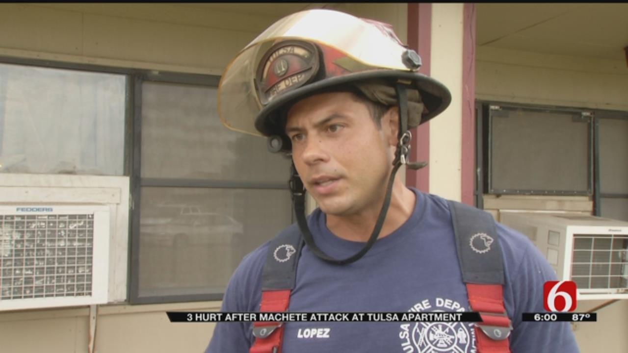 Man Arrested In Machete Attack At Tulsa Apartment Complex