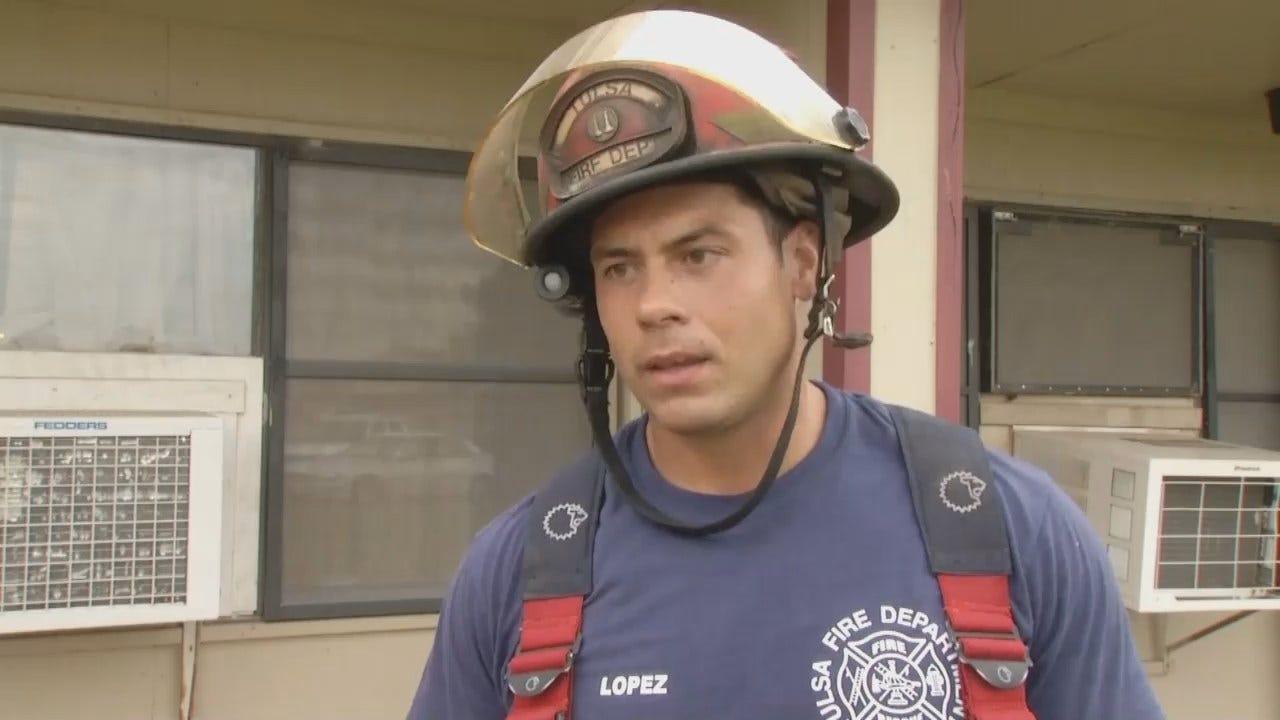 WEB EXTRA: Tulsa Fire Captain Tim Lopez Talks About Apartment Fire