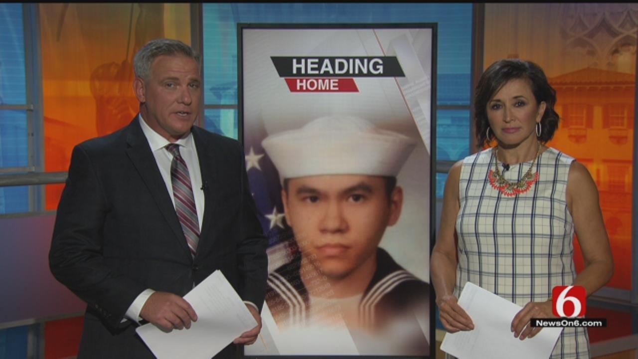 Body Of Sailor Killed In USS Fitzgerald Crash Arrives In Tulsa