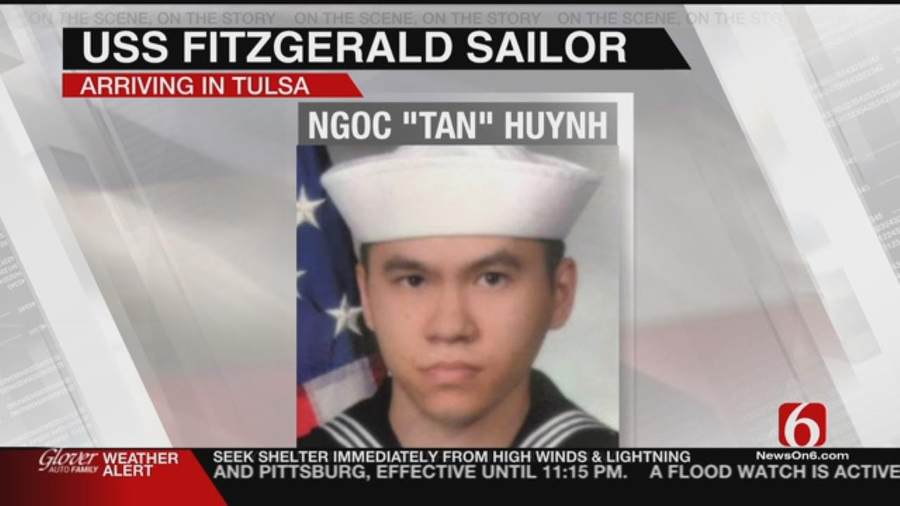 Body Of Soldier Killed In USS Fitzgerald Crash To Arrive In Tulsa