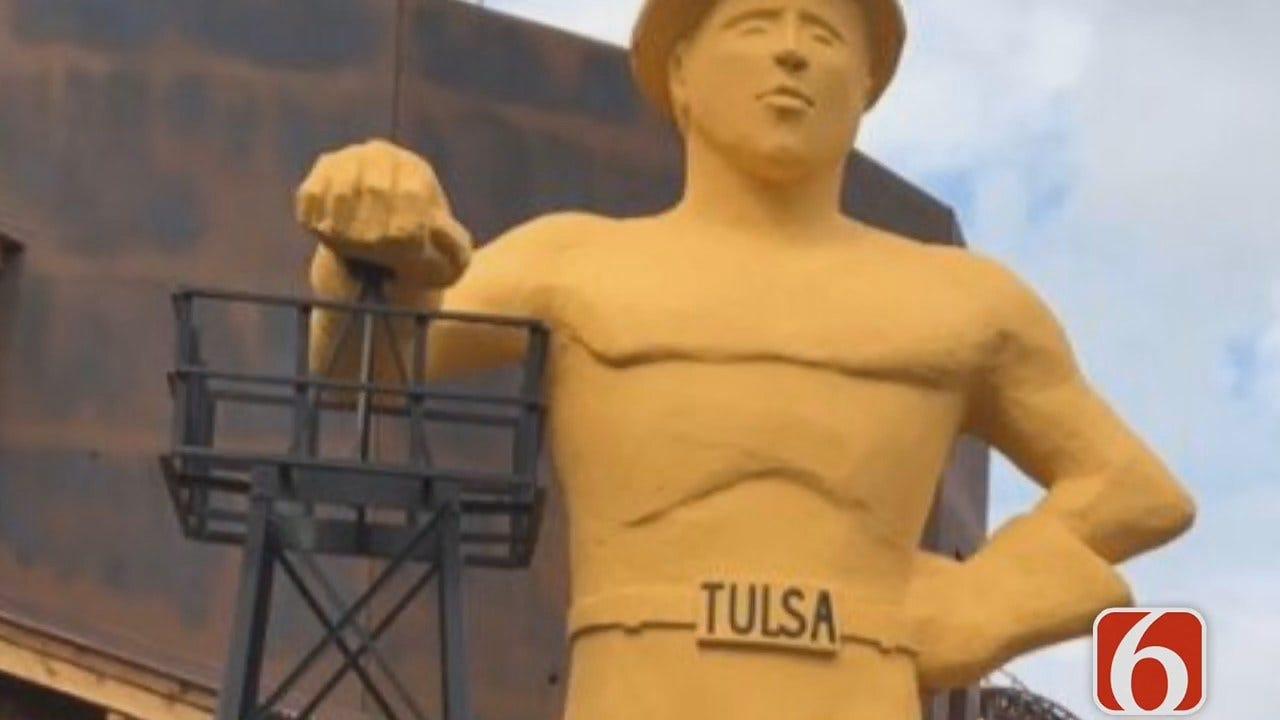 Emory Bryan: Replica Of Tulsa's Golden Driller Dedicated In France