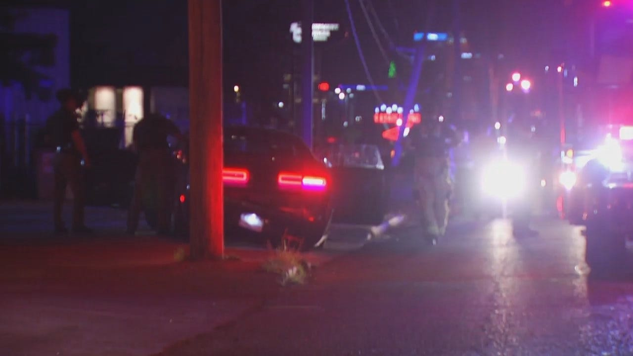WEB EXTRA: Video From Scene At End Of OHP Tulsa Chase