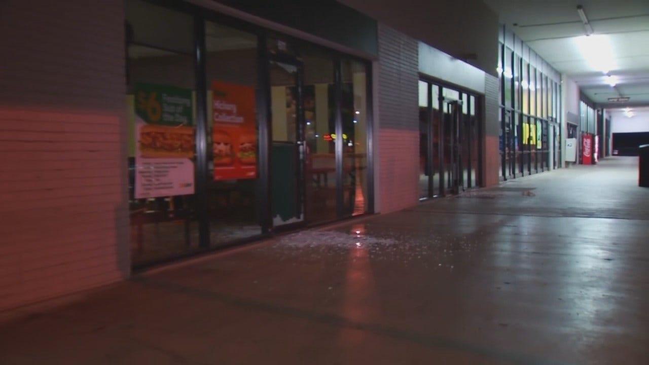 WEB EXTRA: Video Of Vandalism At Sapulpa Shopping Center