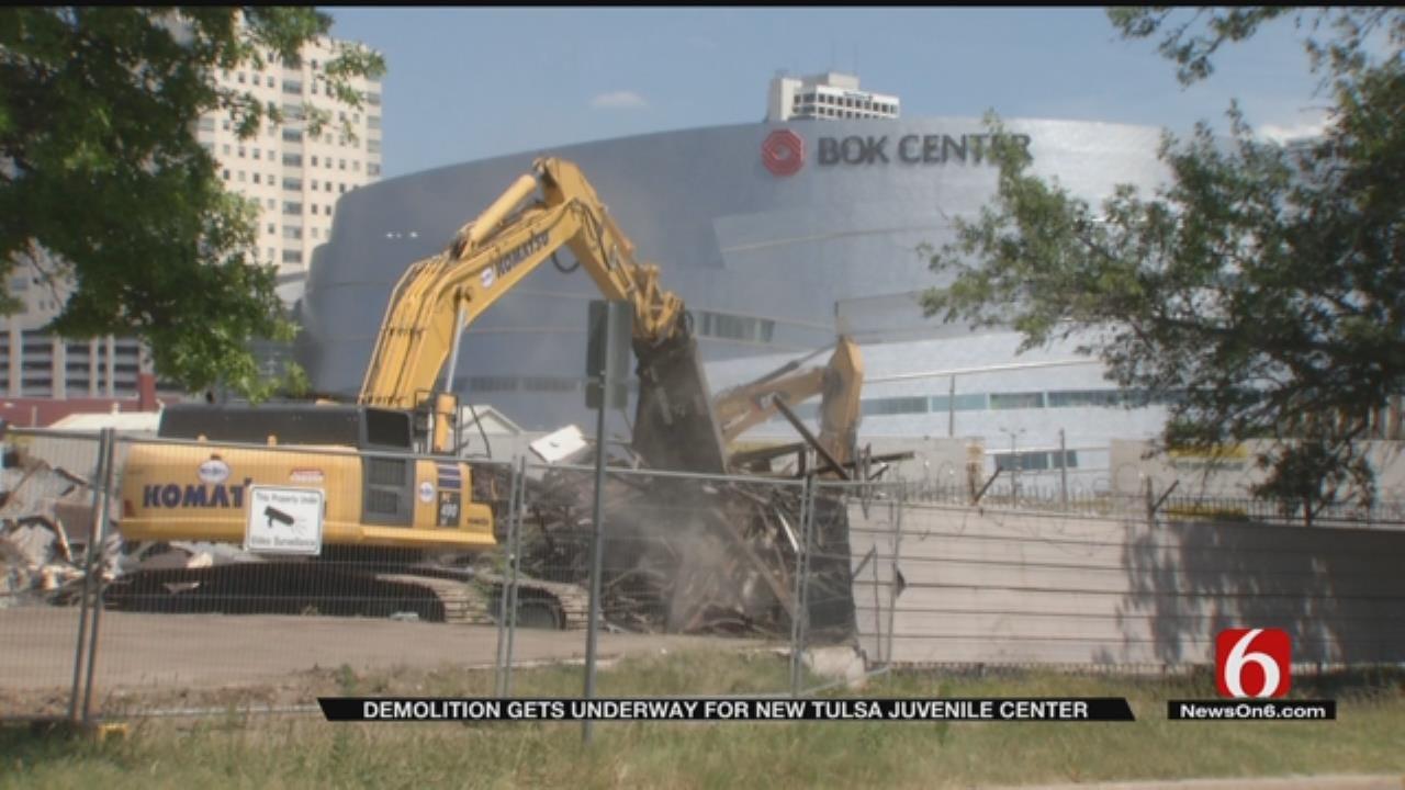 Demolition Begins At Site Of New Tulsa Juvenile Center